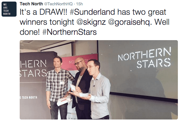GoRaise wins the Northern Star award